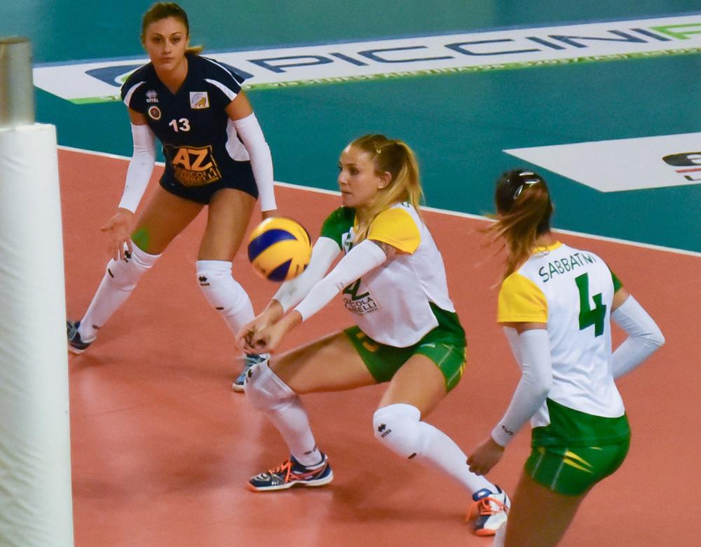 9ª giornata Campionato Serie B1 Femminile 2015-16, girone C PalaSport San Giustino PG, 13.12.2015